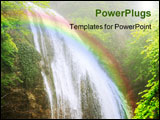 PowerPoint Template - Crimea mountain streams and waterfalls long time exposure