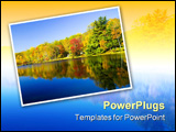 PowerPoint Template - fall reflections on the kittatiny boy scout camp new jersey