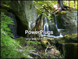 PowerPoint Template - Scenic water falls in Allegheny national forest
