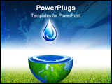 PowerPoint Template - water drop - water drop background. water of the world