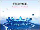 PowerPoint Template - Beautiful blue water drop - splash close-up
