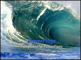 PowerPoint Template - giant breaking wave on the north shore of hawaii