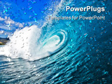 PowerPoint Template - A perfect blue wave breakin