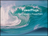 PowerPoint Template - sea with waves