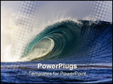 PowerPoint Template - A Big Wave breaks showing the tremendous power these waves exert