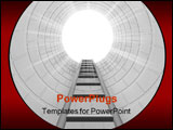 PowerPoint Template - 3d render of ladder leading upwards
