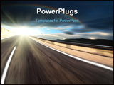 PowerPoint Template - Road and dark sky with motion blur