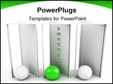 PowerPoint Template - green way to success. business leadeship concept