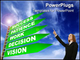 PowerPoint Template - way to success in five steps - 3D rendered with high details