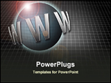 PowerPoint Template - a symbol of world wide web in black background