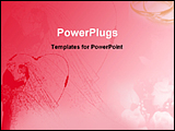 PowerPoint Template - artistic red background of wedding