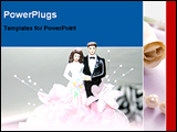 PowerPoint Template - beautiful wedding cake
