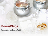 PowerPoint Template - wedding rings with candles