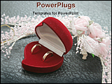 PowerPoint Template - wedding rings with flower