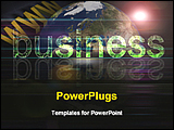 PowerPoint Template - image representing global business