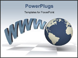 PowerPoint Template - The globe and abbreviation of a World Wide Web