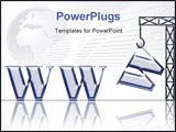 PowerPoint Template - rane carring the last w letter from the world wide web; creating a website; your site is under cons