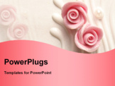 PowerPoint Template - wedding cake roses