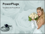 PowerPoint Template - Bride with flowers