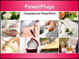 PowerPoint Template - Colorful wedding photos set