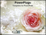 PowerPoint Template - abstract wedding image with bridal hairpiece and rose