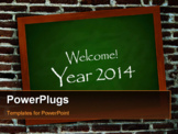 PowerPoint Template - New year background