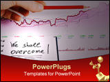 PowerPoint Template - The hand showing successful growth of stock market trends.
