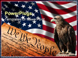 PowerPoint Template - eagle in front of the american flag