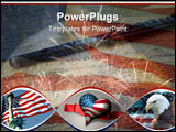 PowerPoint Template -  collage of photos by the artist - US Declaration of Independence flute American flag eagle and fir
