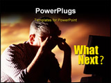PowerPoint Template - A worker feeling stressful, pain, headache, under pressure