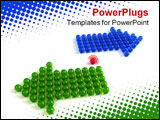 PowerPoint Template - Concept. Single element different from other two groups of elements moving in opposite directions