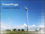 PowerPoint Template - Industrial wind farm