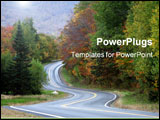 PowerPoint Template - a rural road winds through the vermont countryside during autumn