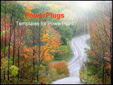 PowerPoint Template - Up and down drive through colorful trees in Michigan