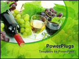 PowerPoint Template - Wine and grapes with grape plant all over