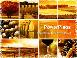 PowerPoint Template - abstract montage of all things wine related