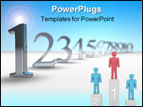 PowerPoint Template - 3d number countdown with sky in background