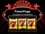 PowerPoint Template - Vector illustration of 777 - winning in slot machine