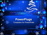 PowerPoint Template - abstract winter design with christmas balls and stars