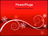 PowerPoint Template - Winter red floral background (christmas greeting card)