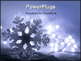 PowerPoint Template - Frozen ice snowflake with soft christmas lights. Please see my gallery for more!