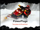 PowerPoint Template - taken at kirkland lake snow cross
