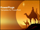 PowerPoint Template - The three wisemen stand together.