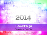 PowerPoint Template - illustration of the multicolored best wishes bright background