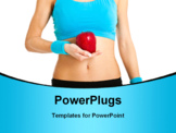 PowerPoint Template - Woman holding a red apple