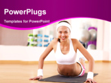 PowerPoint Template - Young woman in sport wear doing sport in gym