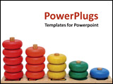 PowerPoint Template - A toddler toy with wooden rings