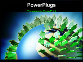 PowerPoint Template - World population rise and Earth overcrowding. Digital illustration.