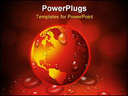 PowerPoint Template - planet earth and goblal warming at risk