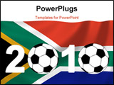 PowerPoint Template - background of 2010 Mondial in South Africa
